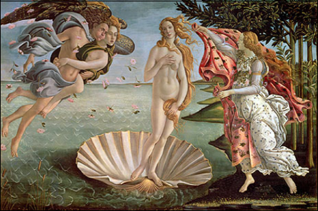 Venus rising from the sea